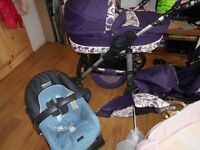 Pushchair, baby car sit,mosses bascket