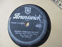 Vintage 78 rpm records in sleeves