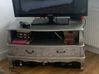 Silver Antique French Style TV Cabinet