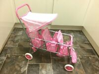 Triple Dolls Stroller - (Badger Basket bought from America)
