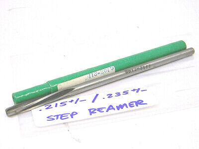 New Surplus Straight Shank Hss Step Reamer .215-  .235- High Speed Steel