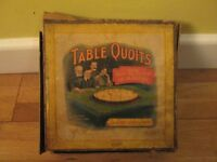 Vintage Table Quoits by Royal Letters Patent, British Manufacture. 8 counters 12 rings. Wooden Base.