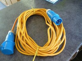 caravan/motorhome /camping mains extension cable . 240v .