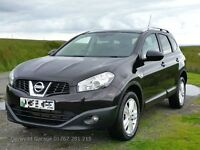 Panoramic Roof 2010 60 NISSAN QASHQAI ACENTA + 2 DCI with 36,000 Miles and 7 Seats