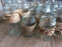 42 twine wrapped jam jars