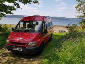 2003 Ford Transit van with side windows/camper