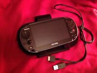 PS VITA + 8GB Memory card, case and charging cable