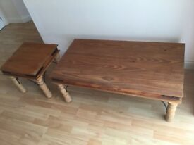 """Two coffe tables , 18"""" x 18"""" and 23""""x 46"""" ."""