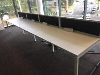 Eight seater desk pod with partitions 2 available