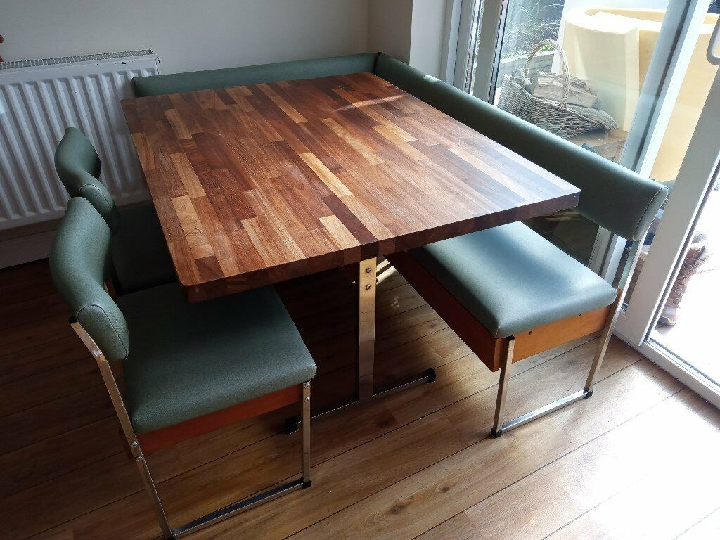 Enjoyable 1970S Bespoke Table And Chairs With L Shape Bench Seats And Storage In Exeter Devon Gumtree Cjindustries Chair Design For Home Cjindustriesco