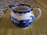 Wedgewood Etruria Chinese blue milk jug