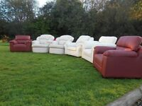 6 Brand New Leather Armchairs