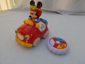Disney Mickey Mouse First Remote Control Car - LIKE NEW