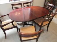 Meredew extending dining table with 6 chairs