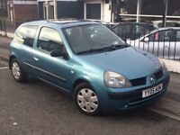 2005 RENAULT CLIO 1.2 EXPRESSION 3DR GENUINE LOW MILEAGE SUN ROOF GREAT CONDITION