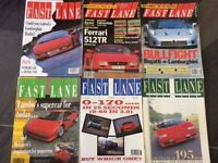 6 Fast Lane car magazines for collectors