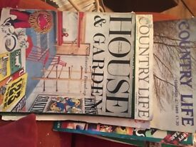 Selection of House and Garden, Country Life/Country Living magazines vintage