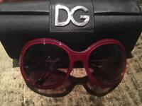 Dolce and Gabbana Red Oval sunglasses RRP £201 from Harrods