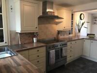 Cream cottage shaker style kitchen