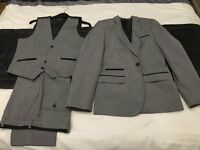 BOYS 3 PIECE SUIT GREY 12-13 YRS. ONLY WORN ONCE.