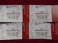 X2 ALL DAY FINAL TICKETS UNIBET CHAMPIONS LEAGUE DARTS CARDIFF MOTORPOINT MVG GARY ANDERSON PHIL TAY