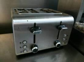 Steel double slice toaster