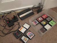 Atari 2600 console 2 joysticks 13 games
