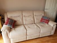 2 x three seater recliner sofas for sale (manual and electric)