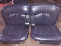 JAGUAR DAIMLER--- S-TYPE/420 DARK BLUE 1960s LEATHER SEATS
