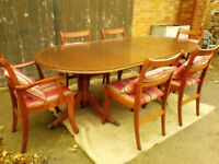 Extending Dining Table & Six Chairs - *Free Local Delivery