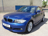 BMW 1 SERIES 2.0 120D M SPORT 2d AUTO 175 BHP 2 PREVIOUS KEEPERS + HALF LEATHER + SERVICE RECORD +