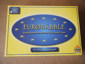 (Eurobabble) A fun team party game. Produced in 2013. New and sealed.
