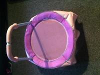 Girls trampoline. Tent