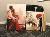 2x Canvas Pictures