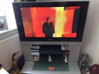 Panasonic TV and stand