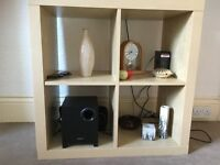 A nice multifunctional table with 4 shelves for sale! 80 x 70 cm in size. Just £10!