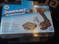 silverline 24v combi hammer drill