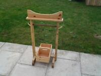 Wooden tack stand