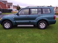 MITSUBISHI SHOGUN 3.2 DI-D ELEGANCE LWB MOT 6/18 SATNAV LEATHER INTERIOR PX P/X PART EXCHANGE WHY?