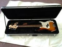 Fender Squire Precision P Bass Guitar. Excellent condition .