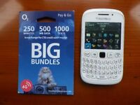 White Unlocked Blackberry 9320 Mobile phone with Genuine £10 credit