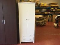 Collection Osaka 2 Door 2 Drawer Wardrobe - White.