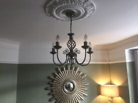 2 brushes crome 5 arm ceiling lights for sale