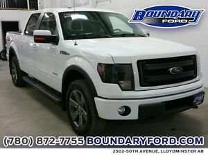 "2014 Ford F-150 4WD SuperCrew 145"" FX4 W/ LEATHER, SUNROOF, NAV"