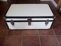 Large trunk ideal wedding.toys coffee table etc painted cream