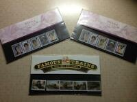Collectable stamps. Princess Diana/famous trains.
