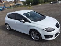 2012 SEAT LEON FR DSG 5 DR PEARL WHITE ******TOP SPEC FULLY LOADED*****