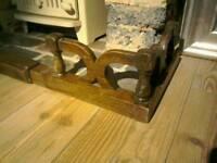 Vintage Adjustable Wooden Fire Hearth