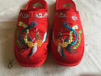 Ladies slippers size 6/39 used few times £2