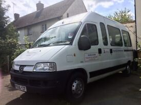 Minibus with wheelchair lift. 13 seats. MOT FEB 2019. Some service history.